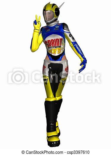Fantasy Race Suit - csp3397610