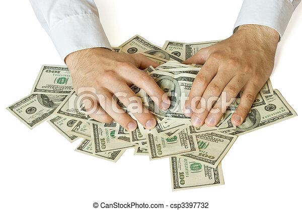 Greedy hands grabbing money - csp3397732