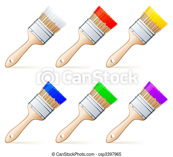 Paint brushes. - csp3397965