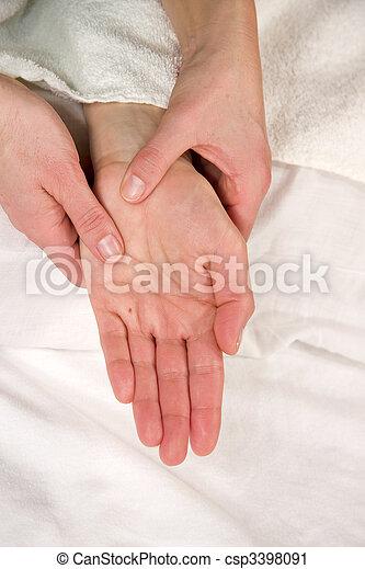 hand reflex zone massage - csp3398091