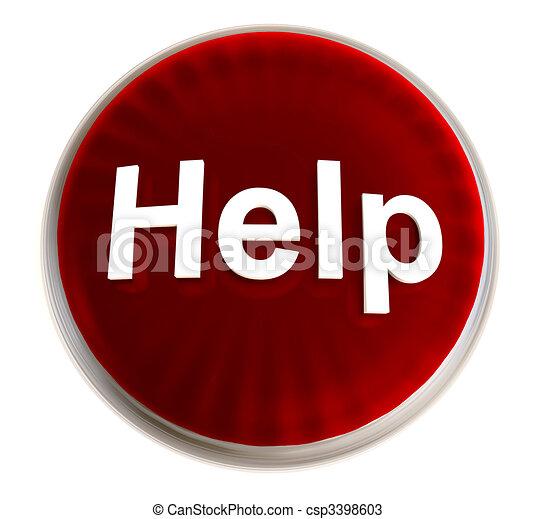 red help button - csp3398603
