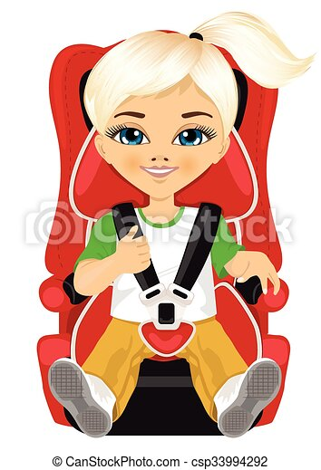 Clipart Vector of Baby Girl Car Seat - Illustration of a Baby Girl ...