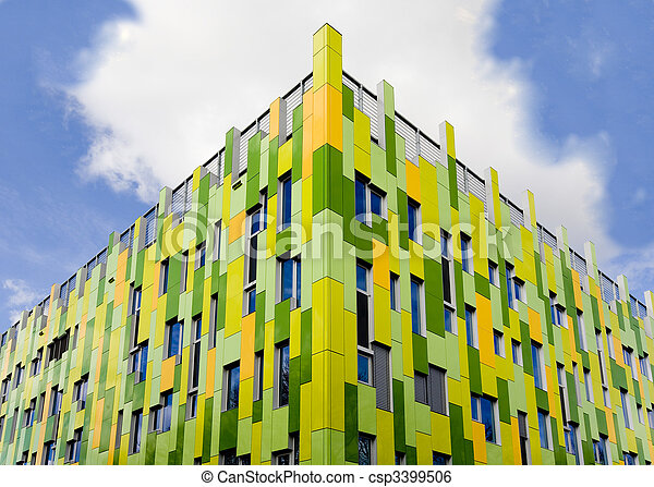 Stock beeld van moderne architectuur moderne publiek for Architecture de batiment moderne