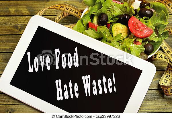 Love food Hate waste - csp33997326