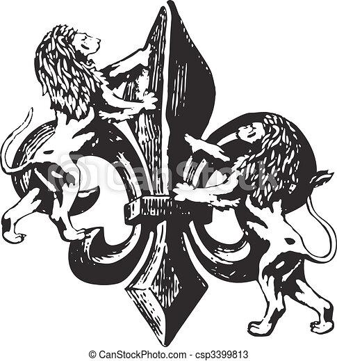 classic royal emblem - csp3399813