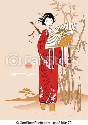geisha - csp3400473