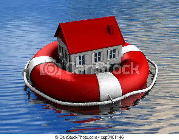 Real estate rescue - csp3401146