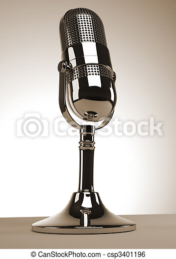 Old microphone - csp3401196