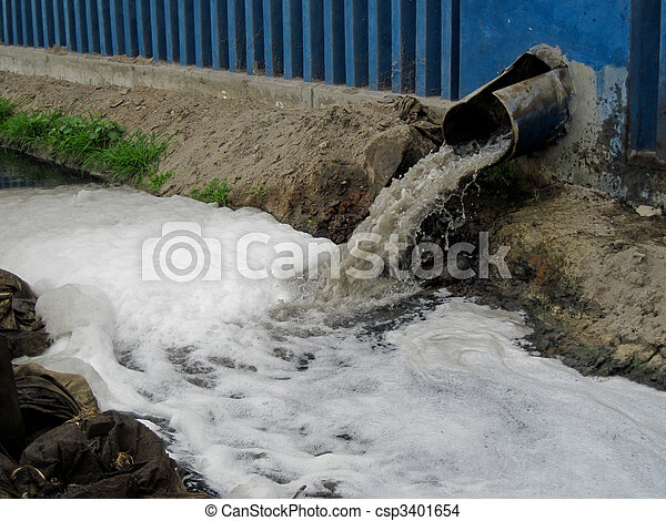 Water From A clarification plant, South America - csp3401654