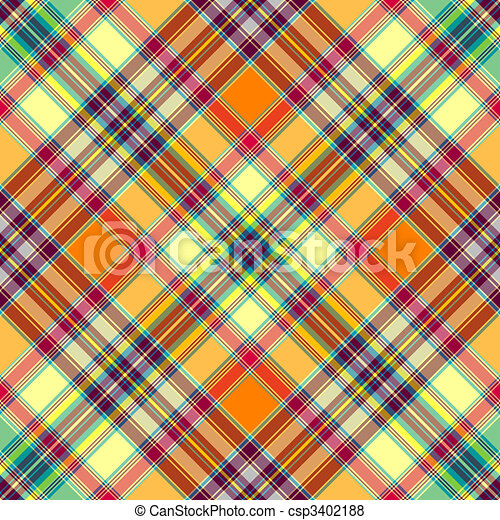 Seamless diagonal checkered pattern - csp3402188