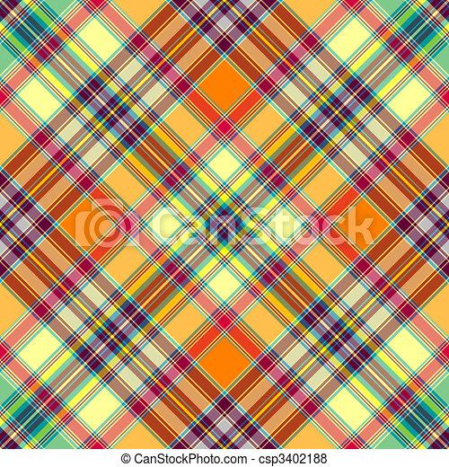 Seamless diagonal checkered pattern  - csp3402188