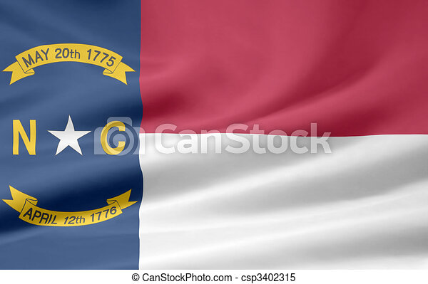 Flag of North Carolina - csp3402315