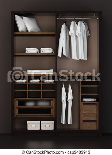 Drawings of inside the modern closet 3d rendering for Disenar closet en 3d gratis