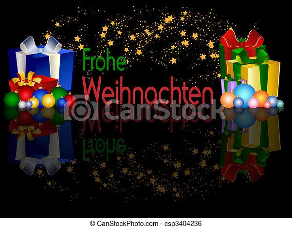 Stock Illustration of German Merry Christmas Background csp3404236 ...