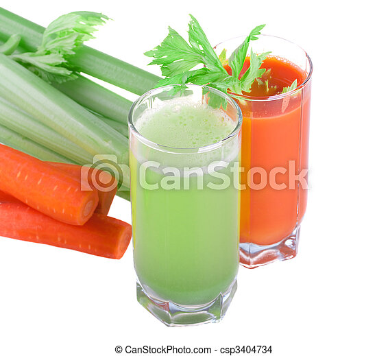 Celery and carrot juice - csp3404734