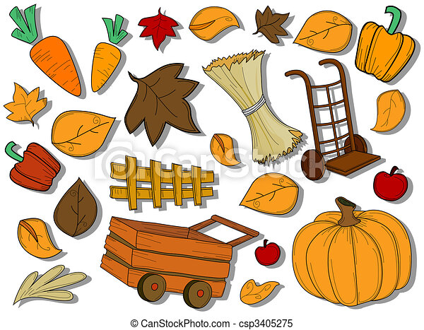 Autumn / Harvest Icons - csp3405275