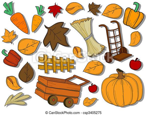 Autumn / Harvest Icons - csp3405275