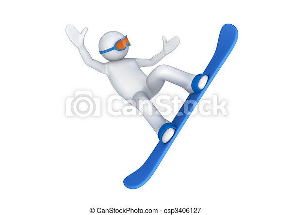 Snowboarder - csp3406127
