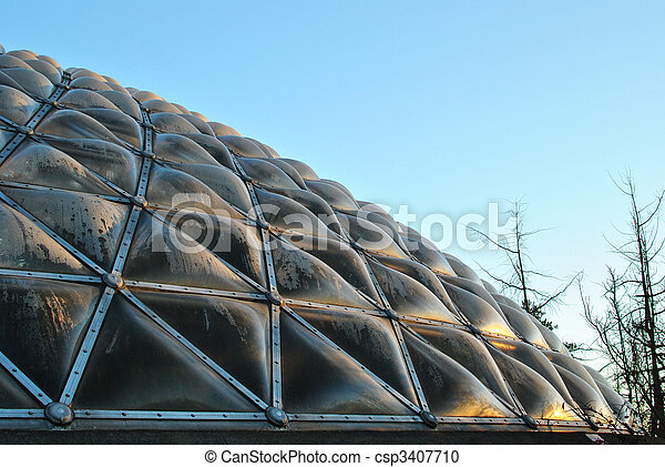 Condensation Inside Conservatory Dome - csp3407710