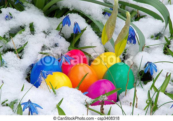 easter eggs 20 - csp3408318