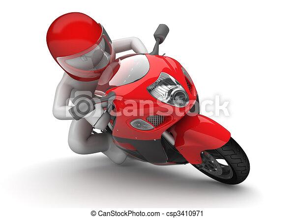 Biker close-up - csp3410971