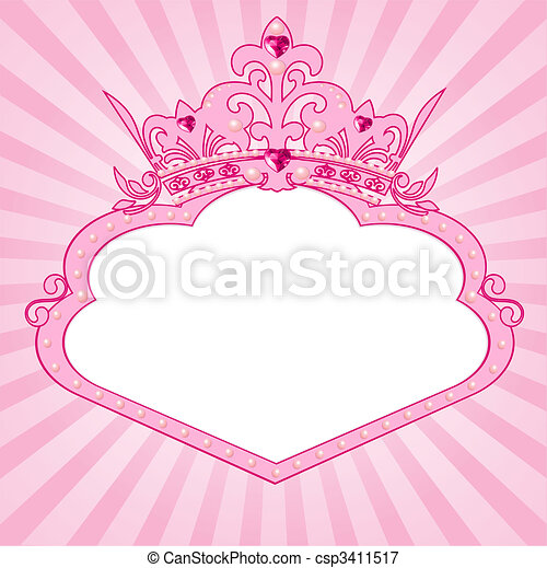 Illustrations Vectorisees De Princesse Couronne Cadre
