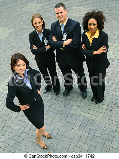 Successful Group Of Diversity Business People - csp3411742