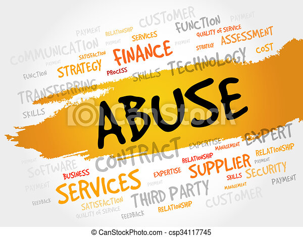 Abuse word cloud - csp34117745