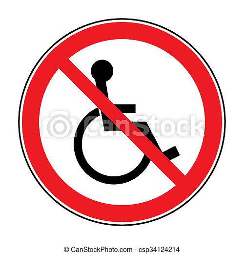 no disabled sign - csp34124214