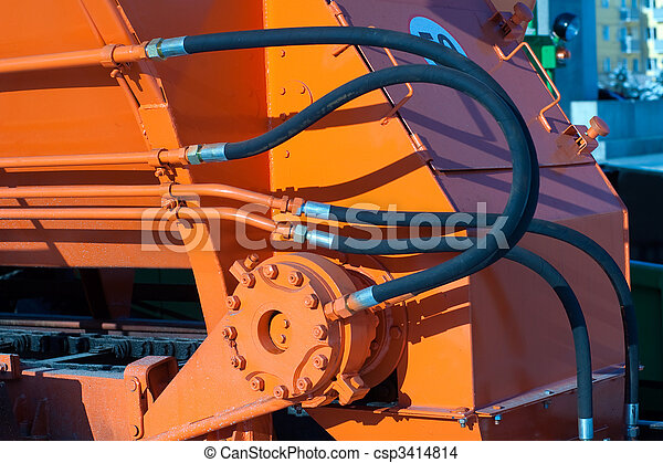 Hydraulic hoses of tractor - csp3414814