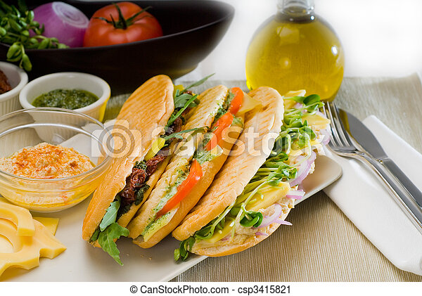 assorted panini sandwich - csp3415821