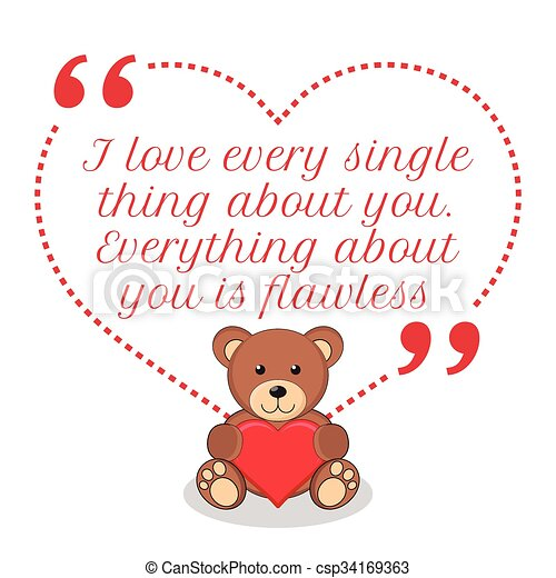 Clip Art Vector of Inspirational love quote. I love every single ...