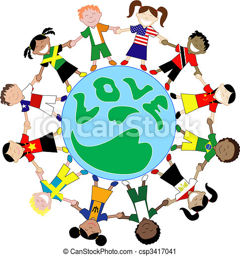 Kids Flag Shirts Love Globe - csp3417041