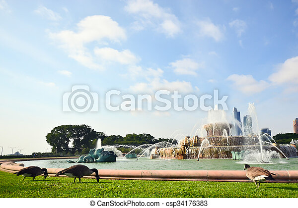 Buckingham Fountain in Grant Park Chicago, United states of America