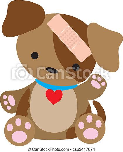 Puppy Bandaid - csp3417874