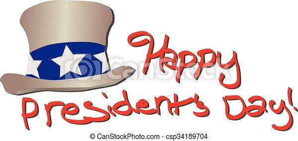 Happy Presidents Day - csp34189704
