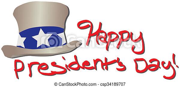 Happy Presidents Day - csp34189707