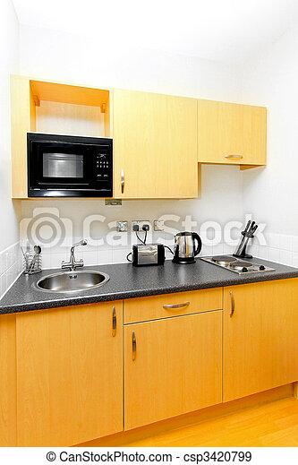 Banque de photographies de pratique cuisine pour petit espace dans studio csp3420799 for Cuisine pour petit espace