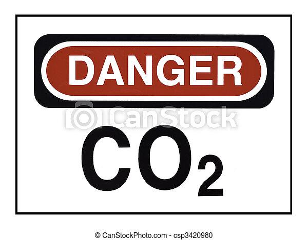 Carbon Dioxide Warning - csp3420980
