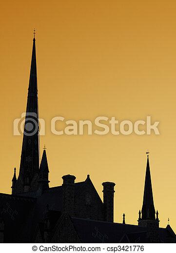 Church Steeples - csp3421776