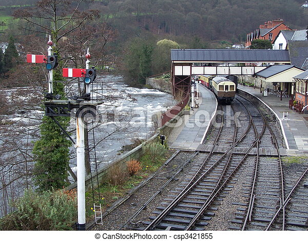 Llangollen station.  - csp3421855