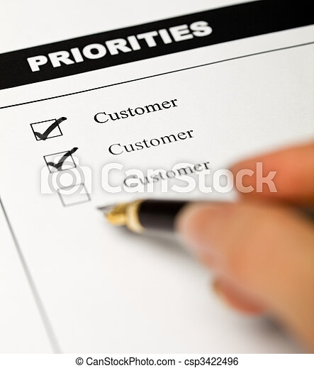 Business values - customer oriented business - csp3422496