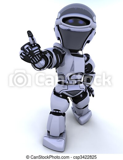 cute robot cyborg - csp3422825