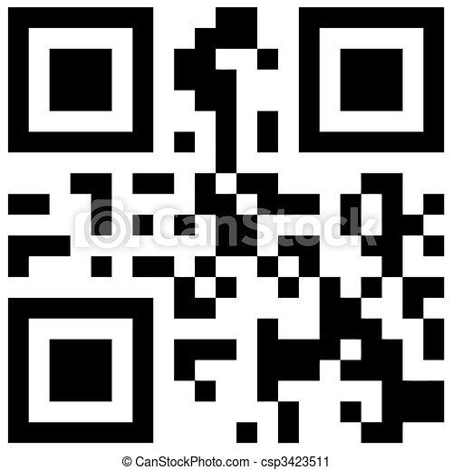 QR Bar Code - csp3423511
