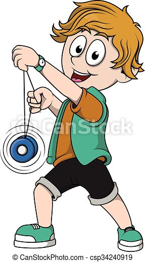 Kid Playing Yoyo