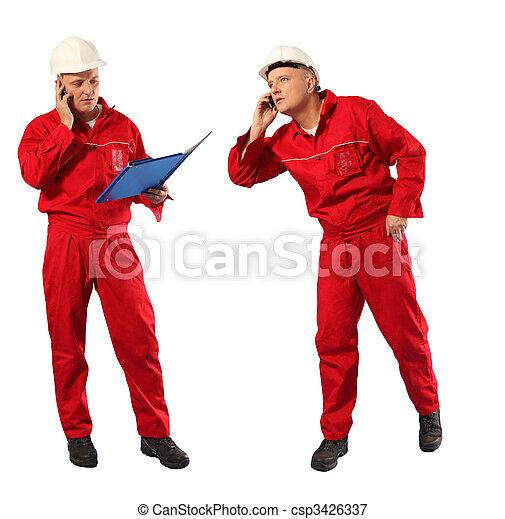 inspector in red uniform - csp3426337