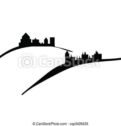 castles and hills - csp3426435