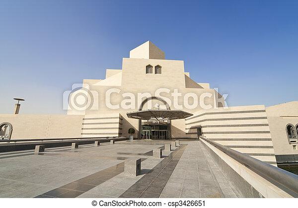The Museum Of Islamic Art, Doha, Qatar - csp3426651