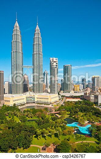 The Petronas Towers - csp3426767