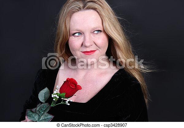Pretty blonde Irish woman - csp3428907